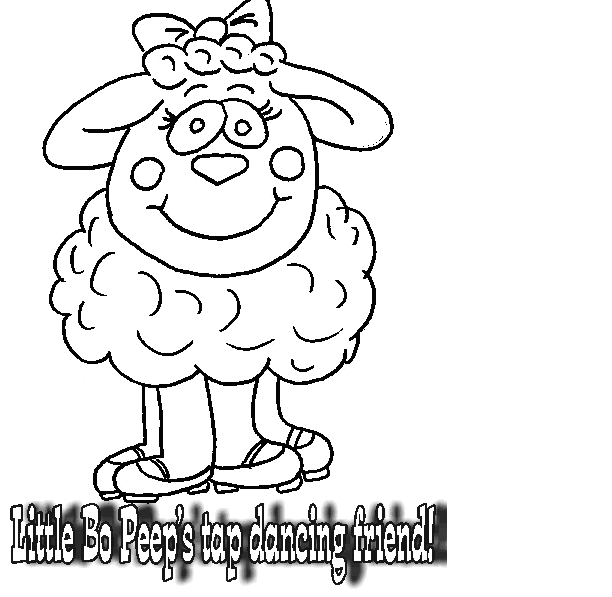 tap dance coloring pages - photo#18
